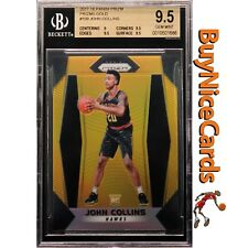 2017-18 John Collins Panini Prizm Gold Prizms Refractor RC Rookie / 10 BGS 9.5