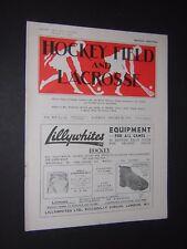 HOCKEY FIELD & LACROSSE. WOMEN'S SPORTS VINTAGE MAGAZINE. JAN 20th 1934
