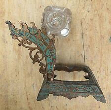 Victorian Ornate Inkwell, Pen Stand - Original Paint