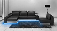 Ecksofa Eck Sofa Couch Polster Leder Garnitur Wohnlandschaft Chaiselounge