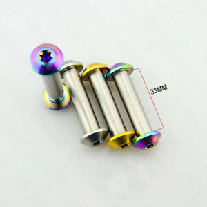 1Pc Titanium Alloy Bicycle Rear Shock Absorbers Bolts Fasteners JP8 / JXP / FA07