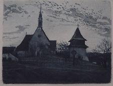 Ludwig Michalek. Landschaft mit Dorfkirche.