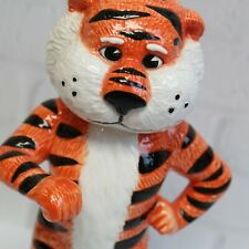 Slavic Treasures Auburn Tiger Mascot Ceramic Figurine Orange Black White 8.5""