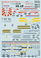 Print Scale 72-275 - 1/72 Decal For F-14 Tomcat, Part 2 (Aircraft wet decal)