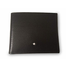 MONTBLANC Black Leather Meisterstuck Selection 6CC XC Wallet MB 114899