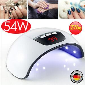 54W UV-Lampe LED Lichthärtungsgerät Nagel Trockner Maniküre Salon Gel Dryer Nice