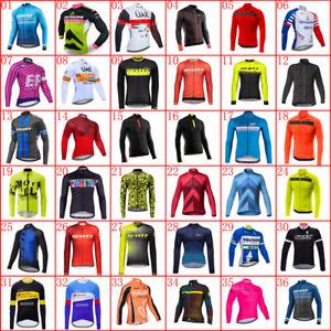 2021 Mens team long sleeve cycling jersey Bike Shirt Bicycle Tops Sports Uniform