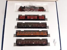 Fleischmann HO Prussian State 4-4-0 Steam Engine w/ 4 Passenger Cars Set 4898