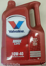 5 L VALVOLINE Max Life synthétique 10W40 L'HUILE DE MOTEUR VW AUDI MERCEDES Fiat