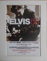 ELVIS PRESLEY Elvis 56, 1996 Music Press Poster Type Advert In Mount