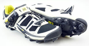 Mavic Chasm Carbon MTB Shoe Men's 10 US/ EUR 44 Clipless Black White Yellow