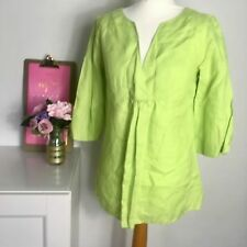 Laura Ashley green  Linen Tunic Kaftan Summer Holiday Size 10 o4