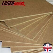 Pack of 10, A4 MDF sheets, 3mm Thick, Safe for Pyrography and laser cutting