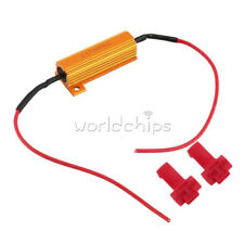 New 5W-50W 6Ω LED Load Resistor Warning Decoder With Two Cancellers For 12V Cars