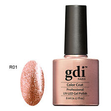 UK SELLER Gdi Nails Fine Glitters R1 SIZZLING CHAMPAGNE UV/LED  Soak Off GEL