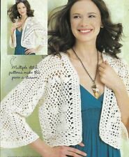 Lacy Jacket Sweater 3 Sizes Women'S Crochet Pattern Instructions
