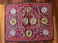 Very Old Suzani (hand embroidered tribal textile) from Uzbekistan