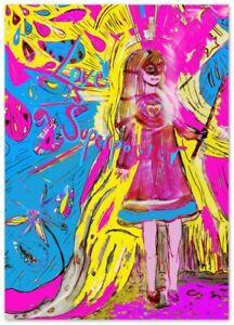 Love is a super power superhero girl art print