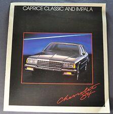 1984 Chevrolet Caprice Classic & Impala Brochure Wagon Nice Original 84