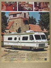 1976 Executive Motorhome RV color photo vintage print Ad