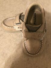 Sperry Infant Baby 4 M Brown Leather Boat Shoes Deck Bluefish Crib MINT