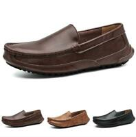 Mens Driving Moccasins Pumps Slip on Loafers Shoes Soft Comfy Flats Breathable D