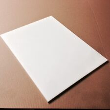"8"" x 12"" x 1/4"" White Plastic (HDPE) Cutting Board  - FDA/NSF/USDA"