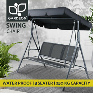 Gardeon Swing Chair Outdoor Furniture Garden Bench  Lounge Patio 3 Seater Canopy