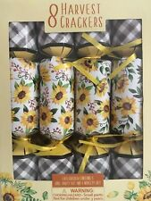 HARVEST HOLIDAY PARTY CRACKERS FLORAL DESIGN BOX OF 8 NEW