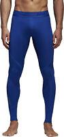 adidas AlphaSkin Sport Long Mens Compression Tights Blue Gym Training Workout