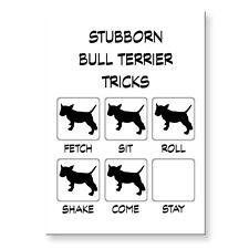 Bull Terrier Stubborn Tricks Fridge Magnet Steel Case Funny