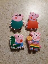 Lot of 4 Peppa Pig shoe charms for Crocs shoes. Other uses Craft, Scrapbook