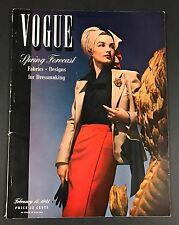 Original Vogue Magazine February 15 1941 Fashion Style Ads Paris Scarce!