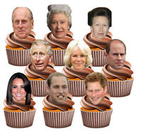 The Royal Family Faces - Edible Cupcake Toppers Decorations (Pack of 36)