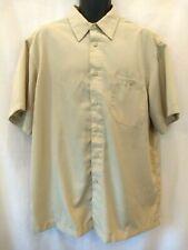 Chereskin Mens Tan Beige 100% Polyester LUXURY MICROFIBER Short Sleeve Shirt XL