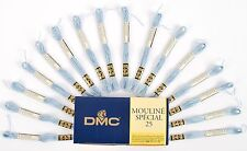 DMC Mouline Special 25 Cross Stitch Thread 16 Skeins x 4 Metre Long 3752 Blue