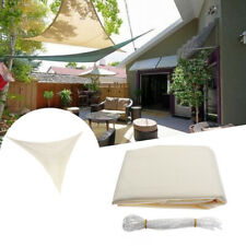 2.4x2.4x2.4M Triangle Sun Shade Sail Canopy Patio Garden Awning UV Block Top