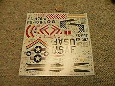 Revell Monogram decals 1/48 F-84E Thunderjet  L109