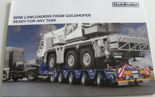 Brochure GOLDHOFER remorque semi lowloaders en anglais