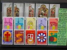 SURINAME,SURINAM '1977-79 ** MNH LOT YT 13,75 EUR PAQUES,RELIGION,PASEN
