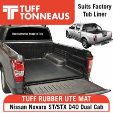 Nissan Navara D40 Dual Cab Rubber Ute Tuff Mat (2006 - June 2015) w/Liner Fitted