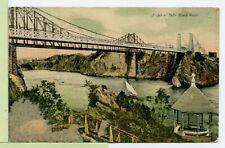 VINTAGE 1907 POSTCARD~ ST. JOHN FALLS, NB CANADA~ Slack Water ~ Bridge