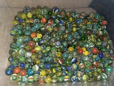 CATS EYE GLASS MARBLES  vintage used