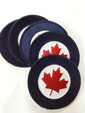 New Canadian Military RCAF Rondel Patch Adhesive Maple Leaf Airforce #11066