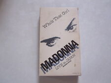 MADONNA Who's That Girl JAPAN VHS With commentary MITSUBISHI SPECIAL