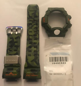 CASIO Original G-Shock Band GW-9400CMJ-3 GW-9400CMJ Green Strap& Bezel GW9400CMJ