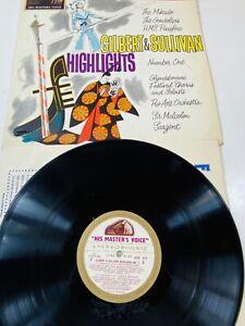 Gilbert And Sullivan Highlights No. 1 Vinyl Record 1958