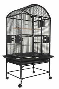 """A&E® 32""""x23""""x63"""" Dome Top Bird Cage with 3/4"""" Bar Spacing"""