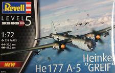 WWII GERMAN HEINKEL HE177 A-5 GREIF REVELL 1:72 SCALE PLASTIC MODEL KIT