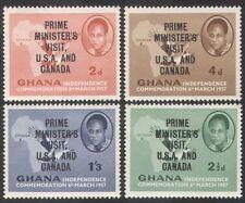 Ghana 1958 Nkrumah/Palm-nut Vulture/Visit Overprint/Politics/Birds 4v set n39578